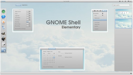 gnome shell elementary by half left